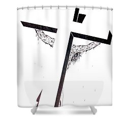 Christ On Cross Shower Curtain by Justin Moore