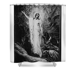 Christ Preaching To The Spirits In Prison C. 1910 Shower Curtain by Daniel Hagerman