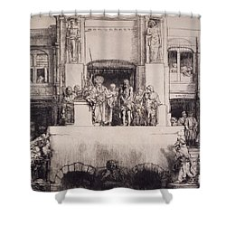 Christ Presented To The People, 1655 Shower Curtain by Rembrandt Harmensz. van Rijn