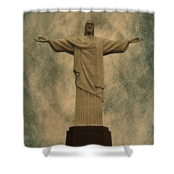 Christ The Redeemer Brazil Shower Curtain