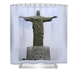 Christ The Redeemer Rio Shower Curtain by Jay Milo