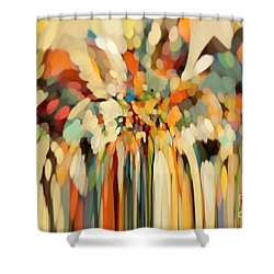 Christian Art- Angels Guiding Lot. Genesis 19 15 Shower Curtain by Mark Lawrence