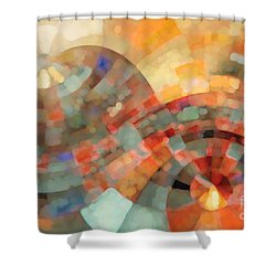 Christian Art- My Refuge Deuteronomy 33 27  Shower Curtain by Mark Lawrence
