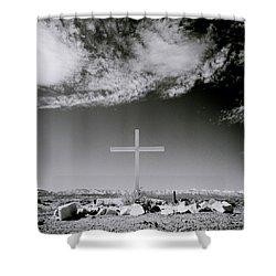Christian Grave Shower Curtain by Shaun Higson