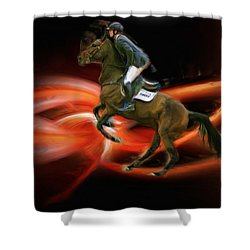 Christian Heineking On Horse Nkr Selena Shower Curtain