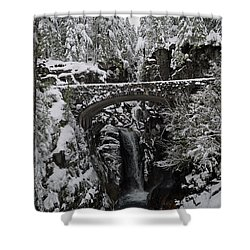 Shower Curtain featuring the photograph Christine Falls In The Winter by Tikvah's Hope