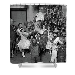 Shower Curtain featuring the photograph Christmas, 1925 by Granger