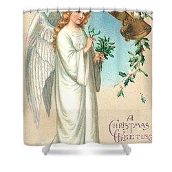 Christmas Angel Shower Curtain by English School