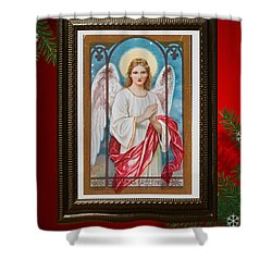 Christmas Angel Art Prints Or Cards Shower Curtain by Valerie Garner