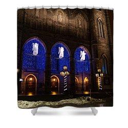 Christmas Angels - Notre-dame De Montreal Basilica Shower Curtain by Georgia Mizuleva