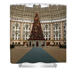 Christmas At West Baden Shower Curtain by Sandy Keeton