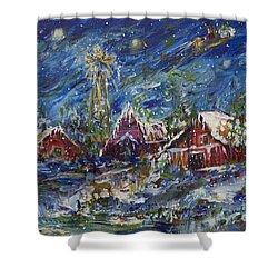 Christmas Shower Curtain by Avonelle Kelsey