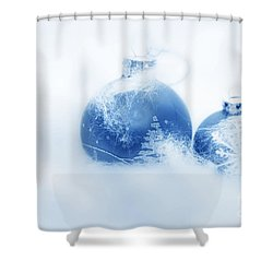 Christmas Balls Decoration Shower Curtain by Michal Bednarek