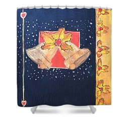 Christmas Bells Shower Curtain by Magdalena Frohnsdorff
