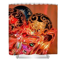 Christmas Bulbs Shower Curtain by Kristin Elmquist
