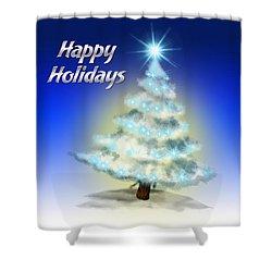 Christmas Card 4 Shower Curtain by Mark Ashkenazi