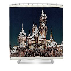 Christmas Castle Shower Curtain