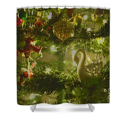 Shower Curtain featuring the photograph Christmas Cheer by Cassandra Buckley