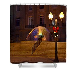 Shower Curtain featuring the photograph Christmas Colors by Bob Sample
