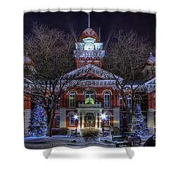 Christmas Courthouse Shower Curtain