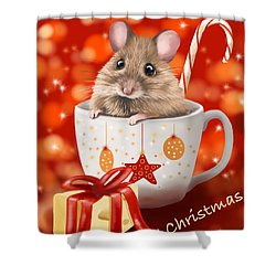 Christmas Cup Shower Curtain