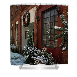 Christmas Decorations In Grants Pass Old Town  Shower Curtain by Mick Anderson