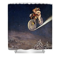 Christmas Delivery Shower Curtain by Jose Frappa