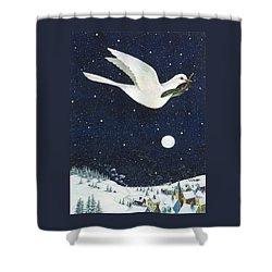 Christmas Dove Shower Curtain