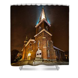 Christmas Eve Shower Curtain by Everet Regal