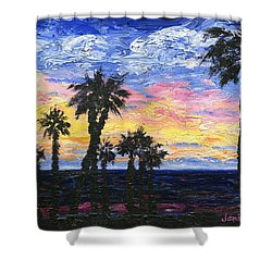 Christmas Eve In Redondo Beach Shower Curtain