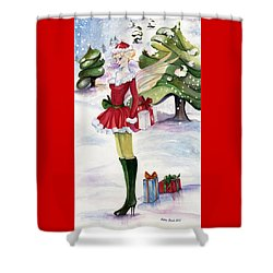 Christmas Fantasy  Shower Curtain