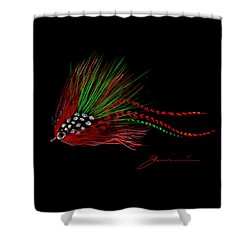 Christmas Fly Shower Curtain by Jean Pacheco Ravinski