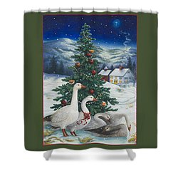 Christmas Geese Shower Curtain