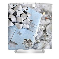 Christmas Gift Box Shower Curtain by Elena Elisseeva
