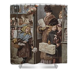 Christmas Gifts Shower Curtain by Adrien Emmanuel Marie