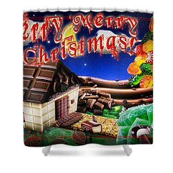 Christmas Greeting Card Iv Shower Curtain