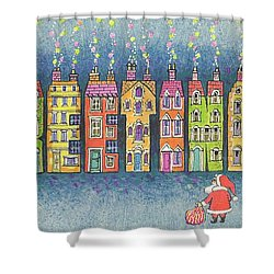 Christmas Greetings  Shower Curtain by Stanley Cooke