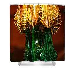 Shower Curtain featuring the photograph Christmas Holiday Party 4 by Linda Shafer