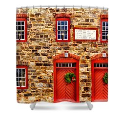 Christmas In Bethlehem Pa Shower Curtain