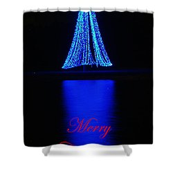 Christmas In Blue Shower Curtain
