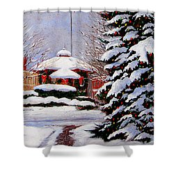 Christmas In Chagrin Falls Shower Curtain