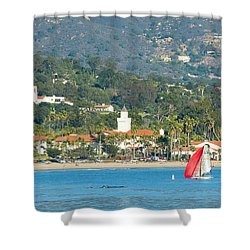 Santa Barbara California Shower Curtain