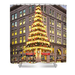 Christmas In Pittsburgh  Shower Curtain