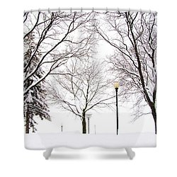 Christmas In Skaneateles Shower Curtain by Margie Amberge