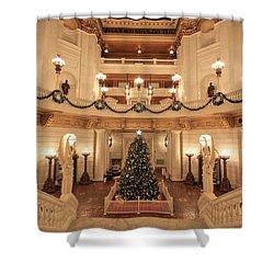 Christmas In The Rotunda Shower Curtain