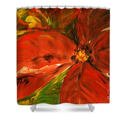 Christmas Star Shower Curtain by Jasna Dragun