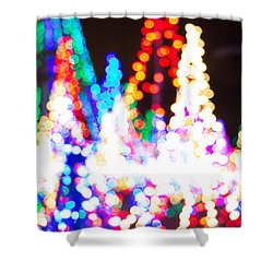 Christmas Lights Abstract Shower Curtain