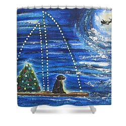 Christmas Magic Shower Curtain by Diane Pape