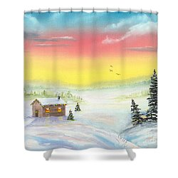 Christmas Morning Shower Curtain