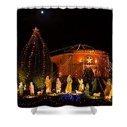 Shower Curtain featuring the photograph Christmas Nativity Scene by Ram Vasudev